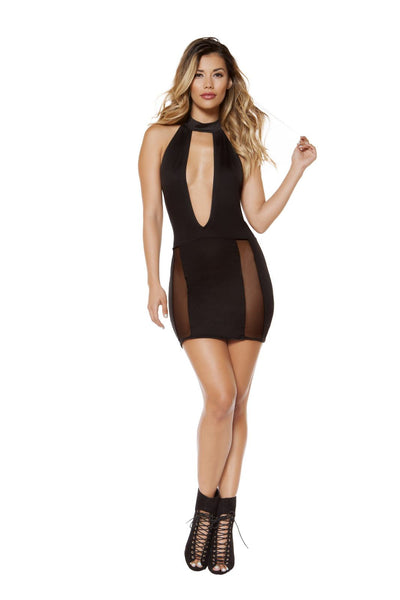 Cutout Dress with Sheer Mesh - Rave Party, Roma Costume, YourLamode