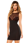 Dress with Star Shaped Mesh Top - Mini Dresses, Roma - YourLamode