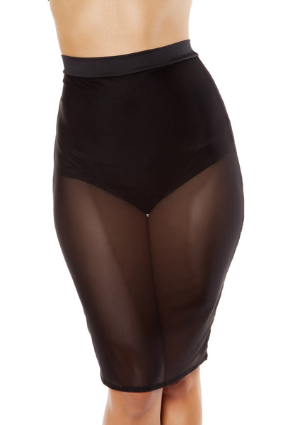 Sheer Mesh Skirt with Attached High-Waisted shorts - Rave Party, Roma Costume, YourLamode