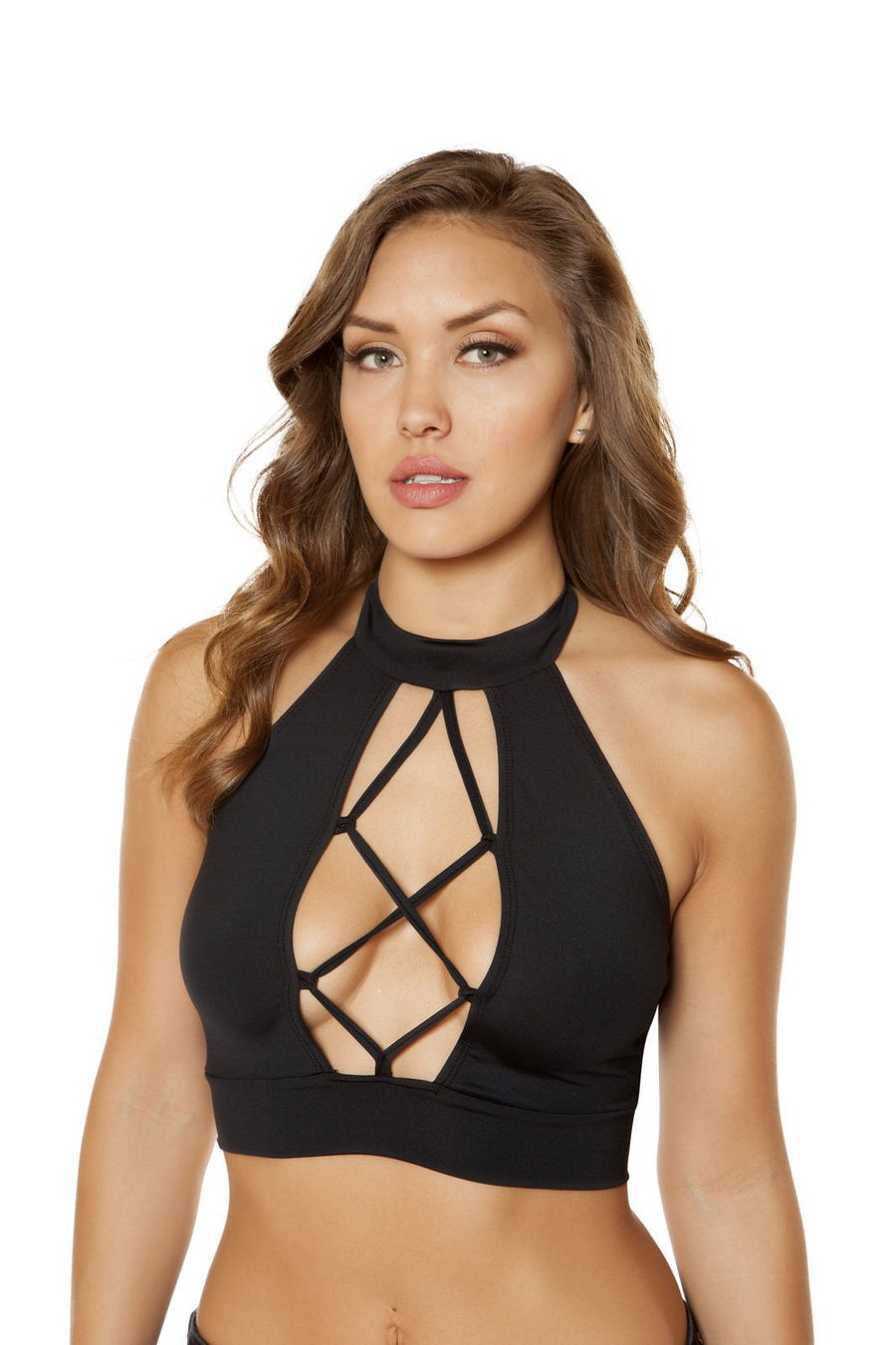 Strappy Lace-up Crop Top - Rave Party, Roma Costume, YourLamode