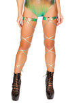 Pair of Foil Leg Wraps with O-Ring Garter - , Roma - YourLamode