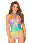 Hologram Cutout Bodysuit - Rave Bodysuits & One Pieces, Roma - YourLamode