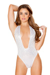V Neck Sequin Bodysuit - Rave Bodysuits & One Pieces, Roma - YourLamode