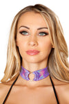 Shimmer O-Ring Choker - Rave Chokers, Roma Costume, YourLamode
