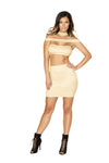Roma Clubwear High Waisted Strappy Dress with Zipper Closure