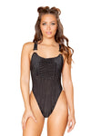 Black Overall Bodysuit with Pocket - Rave Bodysuits & One Pieces, Roma - YourLamode