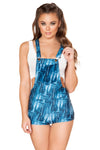 Denim Overall Romper with Pocket - Rave Bodysuits & One Pieces, Roma - YourLamode