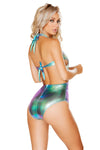 Two-Tone Sequin Bodysuit - Rave Bodysuits & One Pieces, Roma - YourLamode