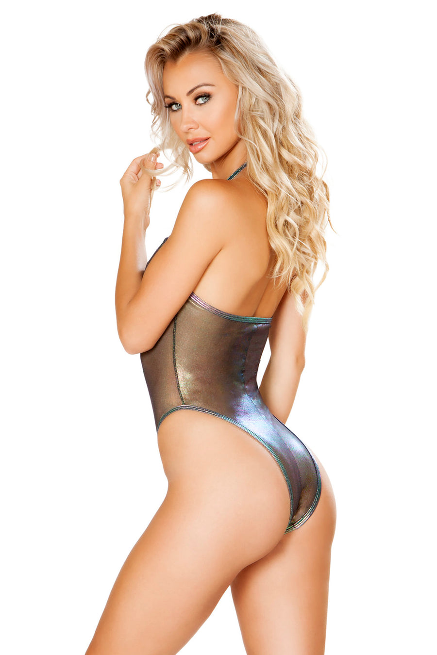 Black Sheer Bodysuit with O-Ring Detail - Rave Bodysuits & One Pieces, Roma - YourLamode
