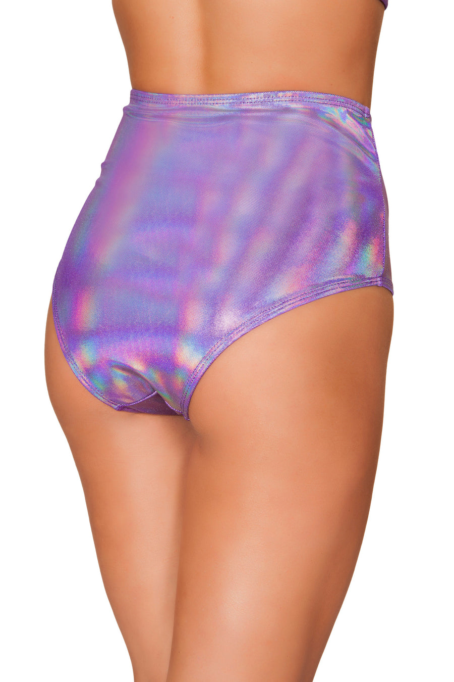 Purple Shimmer High Waisted Shorts - High Waisted Rave shorts, Roma - YourLamode
