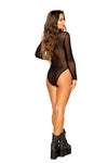 Long Sleeved Sheer Bodysuit