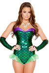 Plurmaid Green Mermaid Bodysuit - Rave Bodysuits & One Pieces, Roma - YourLamode