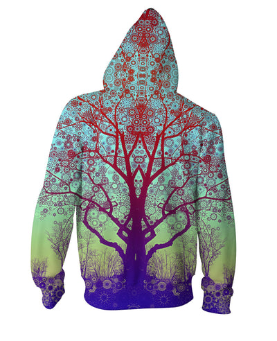 Red Star Trip Tree Zip-Up Hoodie