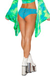 Turquoise Cyclone Mesh Shorts - High Waisted Rave shorts, J Valentine - YourLamode
