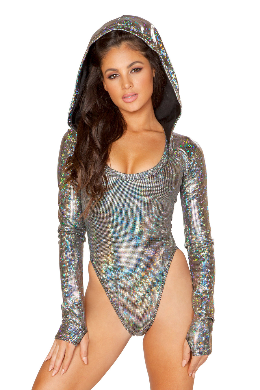 Mirror Hooded Mesh Bodysuit