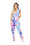 Dye Velvet Zipper Front Jumpsuit - Rave Bodysuits & One Pieces, J Valentine - YourLamode