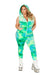 Plus Size Velvet Zipper Front Jumpsuit