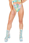 Tie-Dye Faux Suede Lace Up Bottoms - Rave Bottoms, J Valentine - YourLamode