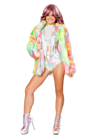 J-Valentine Light-Up Hip Length Fur Coat - J Valentine, Light-Up Cropped - YourLamode - 3