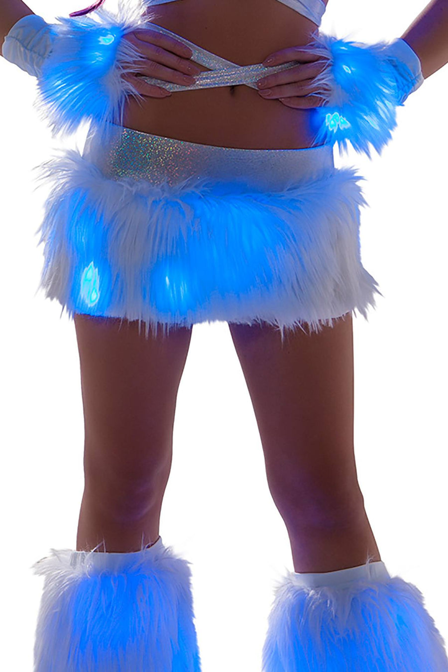 J-Valentine Light-up skirt with LED lights - J Valentine, Light-Up Cropped - YourLamode - 1