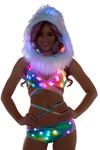 Tie Dye Light-Up Wrap Halter Top With Light-Up shorts - Light-Up shorts Set, J Valentine - YourLamode