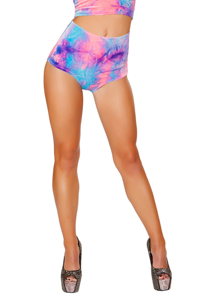 J-Valentine Cotton Kandi High-Waist shorts - High Waisted Rave shorts, J Valentine - YourLamode
