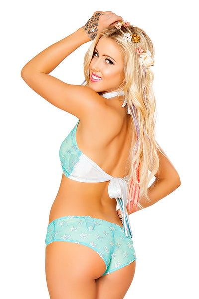 Light-Up Sequin Star Mesh Top with Light Up Shorts - J Valentine, Light-Up Set - YourLamode - 8