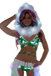 Daisy Light-Up Wrap Halter Top With Light-Up shorts - Light-Up shorts Set, J Valentine, YourLamode