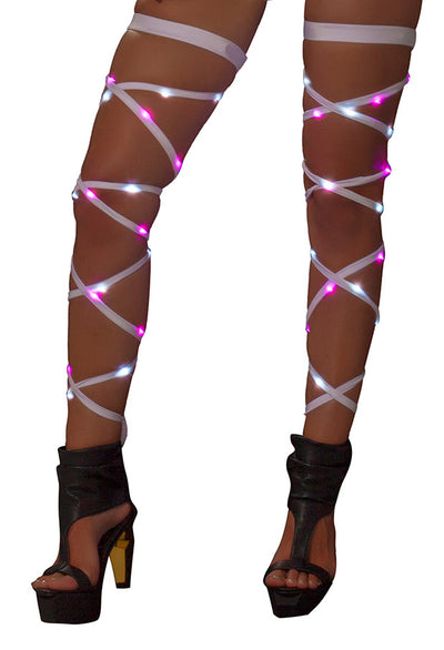 "Pair Of Light up 100"" Leg Straps - Light Up Wraps, Roma Costume, YourLamode"