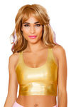J-Valentine Hologram Low-Cut Tank Top - Rave Tank Tops, J Valentine - YourLamode