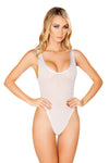 J-Valentine White Trim Tank Bodysuit - Rave Bodysuits & One Pieces, J Valentine - YourLamode