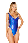 J-Valentine Blue Holographic Tank Bodysuit - Rave Bodysuits & One Pieces, J Valentine - YourLamode