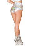 J-Valentine Hologram High Waist shorts - High Waisted Rave shorts, J Valentine - YourLamode