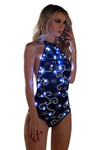 J-Valentine Black Silver Light-Up Sequin Mesh Bodysuit - Rave Bodysuits & One Pieces, J Valentine - YourLamode