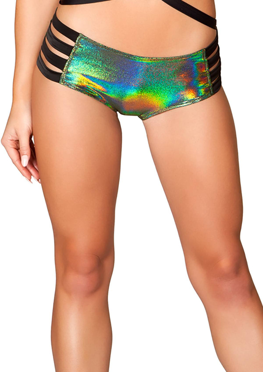 J-Valentine Green No Seam Strappy shorts - , J-Valentine, YourLamode