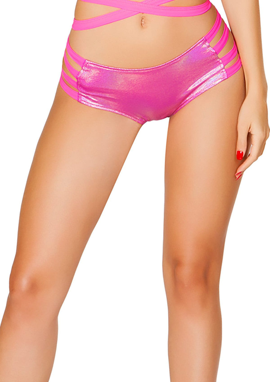 J-Valentine Hot Pink No Seam Strappy shorts - , J-Valentine, YourLamode