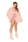 Shaggy mohair faux fur coat