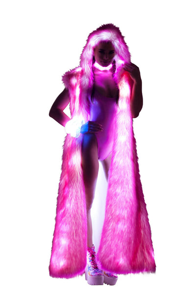 J-Valentine Pink Tips Light-Up Hooded Duster - Light-Up Hooded Duster, J-Valentine, YourLamode