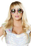 Pink Glasses with Iridescent Lens - Halloween Accessories, Roma - YourLamode