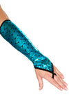 Pair of Fingerless Elbow Length Mermaid Gloves - Halloween Accessories, Roma - YourLamode