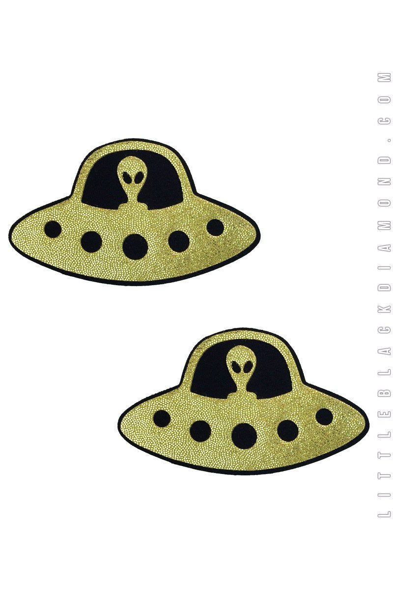 UFO Pasties in Gold