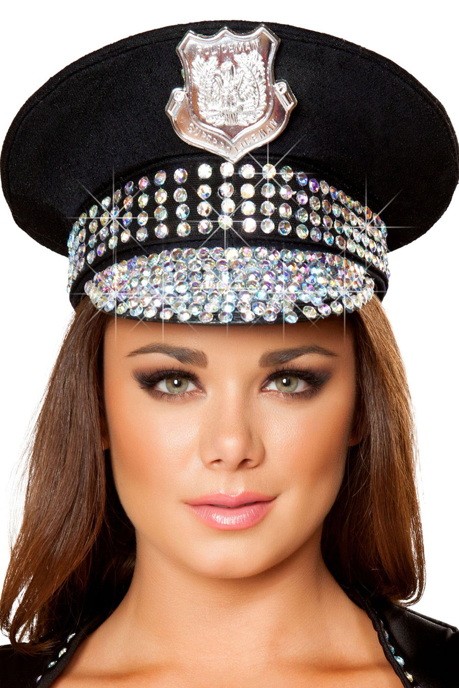 Studded Police Hat - Accessories, Roma - YourLamode