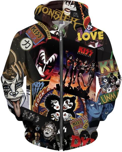 KISS Discography Zip Hoodie - Hoodies, KISS - YourLamode