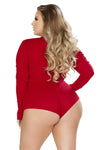 Plus Size Cozy & Comfy Sweater Bodysuit - Curve Lingerie, Roma - YourLamode