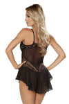 Elegant Teddy with Attached Sheer Skirt - Intimates, Roma - YourLamode