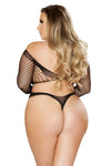 Plus Size Crisscross Crotchless Teddy Bodystocking - Curve Lingerie, Roma - YourLamode