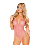 Zip-Up Fishnet Teddy with Thong Back & Snap Bottom - Lingerie, Roma - YourLamode