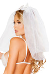 Sheer Veil with Satin Bow - Lingerie, Roma - YourLamode