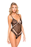 Two-Tone Multiple Cross Bodysuit - Intimates, Roma - YourLamode