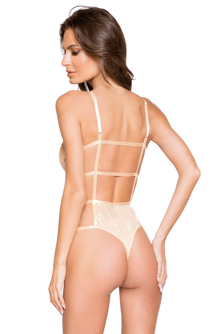 Classic Full Front Cover Lace Teddy with Back Strap Details - Intimates, Roma - YourLamode